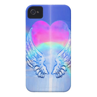 Angel Wings Wrapped Around a Heart iPhone 4 Cover
