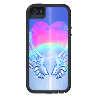 Angel Wings Wrapped Around a Heart iPhone SE/5/5s Case