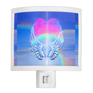 Angel Wings Wrapped Around a Heart Night Light
