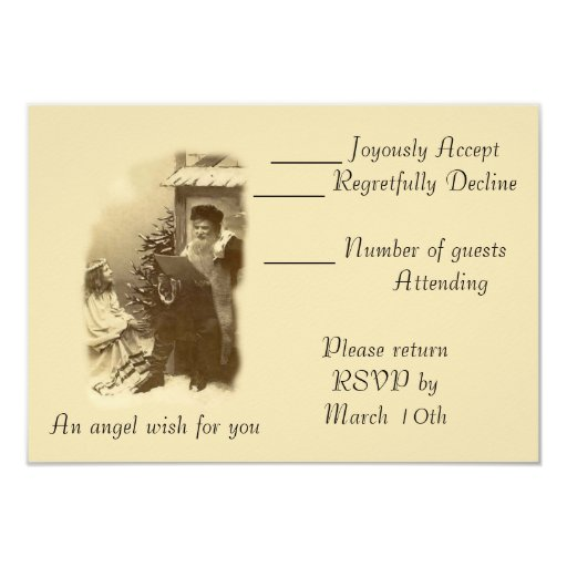 Angel Wish Personalized Announcement
