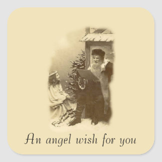 Angel Wish Square Sticker