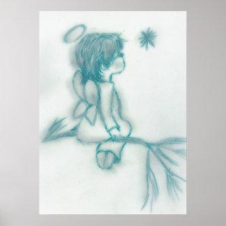 Angel Wishing On A Star III Posters