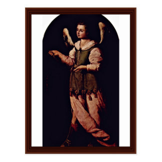 Angel With A Censer By Zurbarán Francisco De Postcard