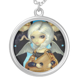Angel with a Psaltery NECKLACE gothic music fairy
