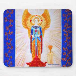 Angel With a Rose Mouse Pad