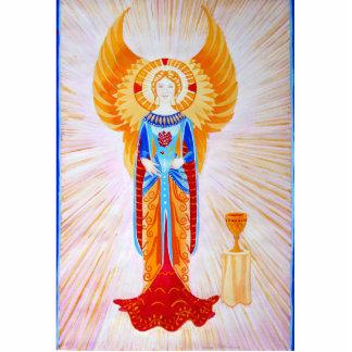 Angel With a Rose (plain) Cutout