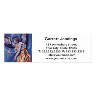 angel with a white dove business card
