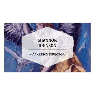 angel with a white dove business card template