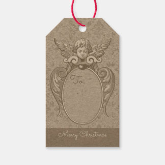 Angel with acanthus leaves frame CC0865 Christmas Gift Tags