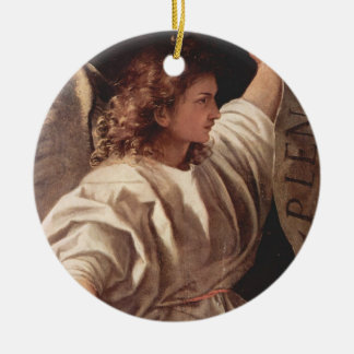 Angel with Banner 1522 Ceramic Ornament