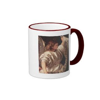 Angel with Banner 1522 Ringer Mug