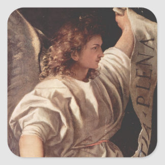 Angel with Banner 1522 Square Sticker
