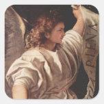 Angel with Banner 1522 Sticker