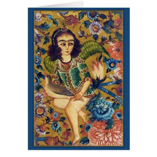 Angel with Bird CC0418 Islamic Art Greeting Card