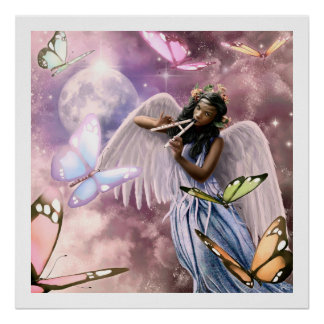 Angel with Butterflies Painting Art Prints