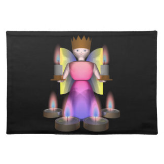 angel with candles placemat