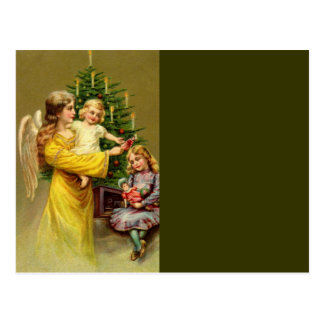 Angel with Children and Tree Postcard