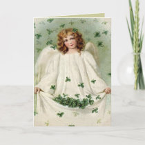Angel with Clover St. Patrick's Day Card