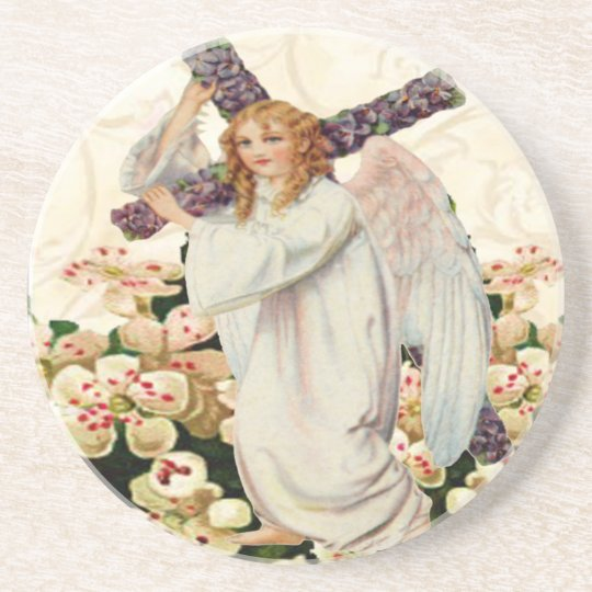 Angel With Cross Coaster