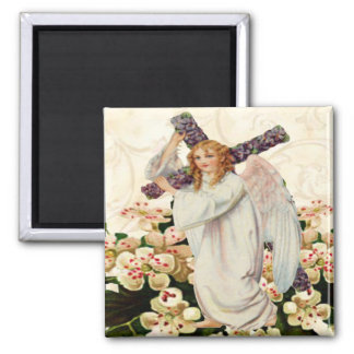 Angel With Cross Magnet
