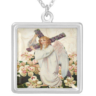 Angel With Cross Necklace