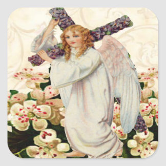 Angel With Cross Stickers
