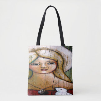 ANGEL with DOVE All-Over-Print Tote Bag