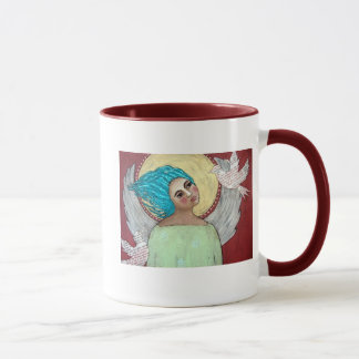 Angel with Doves Mug