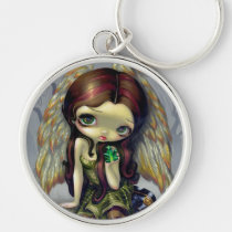 artsprojekt, angel, art, big, eyed, emerald, emeralds, crystal, crystals, wing, wings, feathers, angel wings, angel eyes, eye, eyes, big eye, big eyed, jasmine, becket-griffith, becket, griffith, jasmine becket-griffith, jasmin, strangeling, artist, goth, gothic, fairy, gothic fairy, faery, fairies, faerie, fairie, lowbrow, low brow, big eyes, strangling, fantasy art, Keychain with custom graphic design