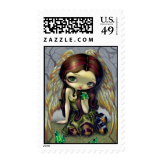 """""""Angel with Emeralds"""" Stamp"""