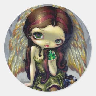 """""""Angel with Emeralds"""" Sticker"""
