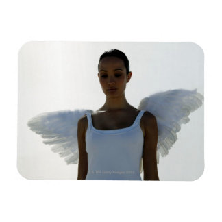 Angel with eyes closed magnet