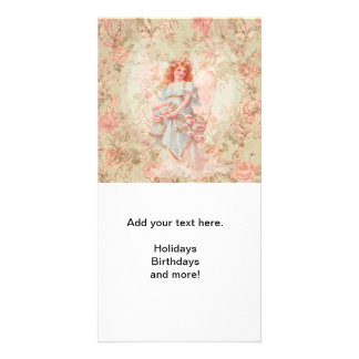 Angel with flowers card