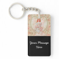 Angel with flowers keychains