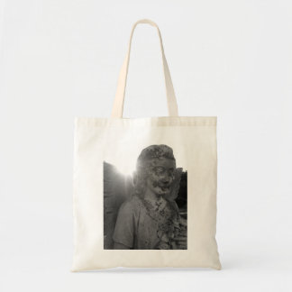 Angel with Flowers tote bag