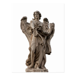 Angel with garment and dice , Rome Post Card