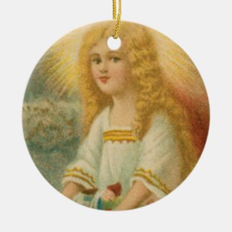 Angel with Gold Halo Collectible Holiday Ornament