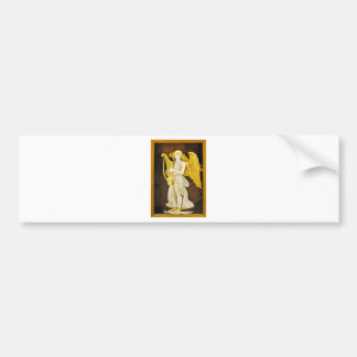 Angel With Golden Harp and Wings Bumper Sticker