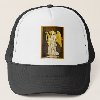 Angel With Golden Harp and Wings Trucker Hat