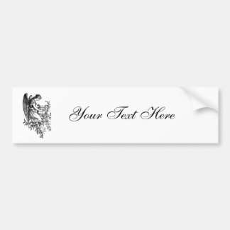 Angel With Harp And Flora Bumper Sticker