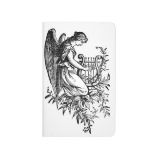Angel With Harp And Flora Journal