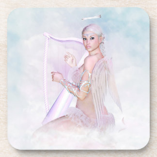 Angel With Harp Drink Coasters