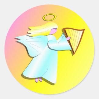 Angel with Harp Sticker