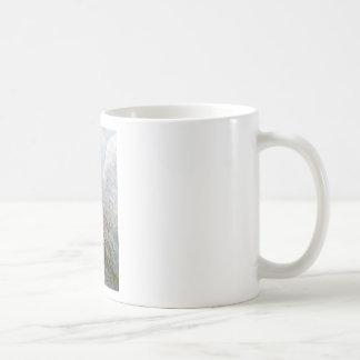 Angel with hawk for good fortune coffee mug