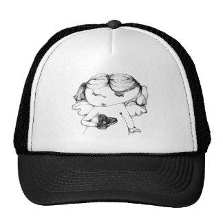 Angel with heart trucker hat