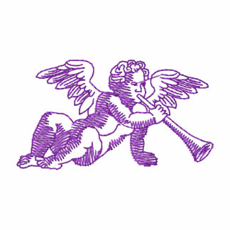 Angel with Horn Embroidered Polo Shirt