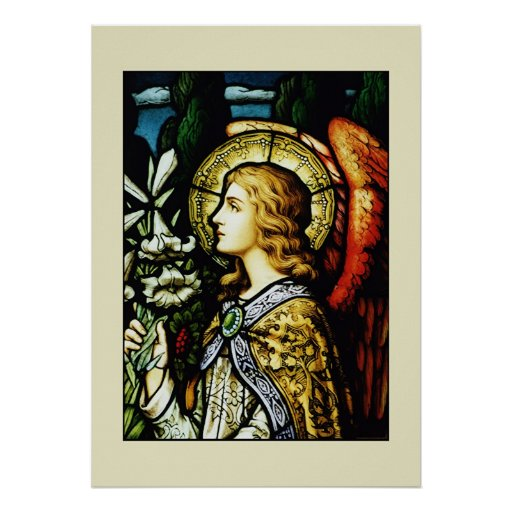 """""""Angel with Lilies"""" Poster"""