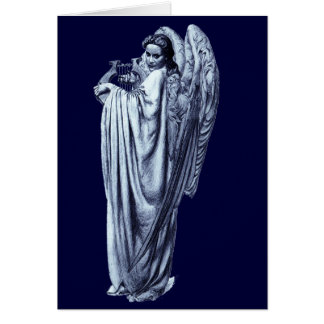 Angel With Lyre Greeting Card