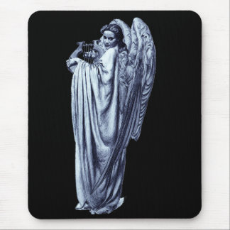 Angel With Lyre Mouse Pad