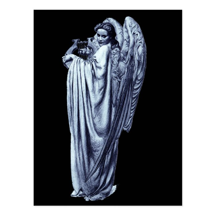 Angel With Lyre Postcard